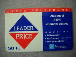 6994 Télécarte Collection CARTE LEADER PRICE 50 F   ( Recto Verso)  Carte Téléphonique - Alimentazioni