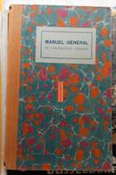 Protège-cahier Cartonné Du Manuel Général De L'instruction Primaire Avec 2 Pubs Pour Des Manuels Scolaires - Book Covers