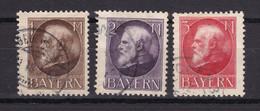 Bayern - 1914/16 - Michel Nr. 104/106 A - Gestempelt - Bavaria