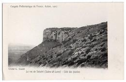 71 008, Le Roc De Solutré, Cliché Coutil, Coté Des Fouilles, Congrés Préhistorique De France, Autun 1907 - Otros Municipios