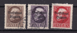 Bayern - 1919 - Michel Nr. 128/130 A - Gestempelt - Bavaria