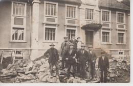 CPA Photo Plancher-les-Mines - Construction Des Bureaux Des Usines Laurent 1922 Ou 1923 (indications Au Verso) - Other Municipalities
