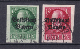 Bayern - 1920 - Michel Nr. 118/119 II B - Gestempelt - 48 Euro - Bavaria