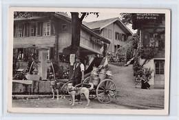 WILDERSWIL (BE) Dorf-Partie - Molkerei - Milkman - Dog Cart - Voiture à Chiens - Hundewagen - BE Berne