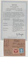 DR Feldpost - Päckchenabschnitt Mit MNr. 2A Mit Befund Mogler ( BPP ) - Covers