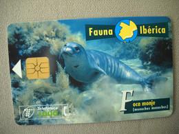 7016 Télécarte Collection PHOQUE MOINE   Espagne     ( Recto Verso)  Carte Téléphonique - Altri