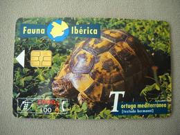 7022 Télécarte Collection TORTUE D HERMAN  Testudo Hermanni  Espagne ( Recto Verso)  Carte Téléphonique - Tartarughe