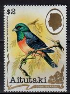 1981 Aitutaki Standard Set Birds Of Aitutaki 2$ Vanikoro Flycatcher Myiagra Vanikorensis Rufiventris  MNH** Mi 403 - Aitutaki
