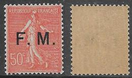 Francia France 1929 Military Post Franchise Militaire C50 YT N.FM6 MNH ** - Militaire Zegels (zonder Portkosten)