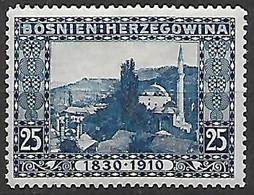 BOSNIA EZERGOVINA 1910 80°GENETLIACO DELL'IMPERATORE D'AUSTRIA UNIF. 52 MLH VF - Bosnia Erzegovina