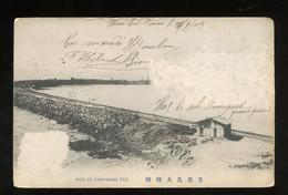 秦皇島大棧橋 1909 Chin Wang Tao Bridge Sent By French Military (damaged!) (C4-77) - Brunei