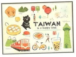 Postcard, China, Taiwan Is A Happy Land - Cina
