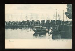 ± 1910  廣州  (Guangzhou Canton) FLOWER BOATS AT NIGHT (C4-91) - Brunei