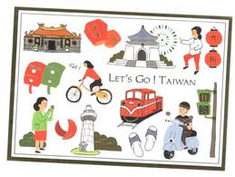 Postcard, China, Taiwan (Lets Go Taiwan) Unused - Cina
