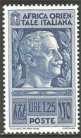 521 Africa Orientale Italiana 1938 1.25 Victor Emmanuel III MH * Neuf CH (ITC-130) - Italian Eastern Africa