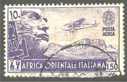 521 Africa Orientale Italiana 1938 Mussolini (ITC-150) - Italian Eastern Africa
