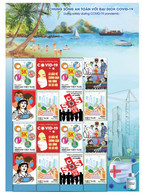 Vietnam Viet Nam Sheetlet Issued On 5th Of May 2021 : LIVING SAFELY WITH COVID-19 PANDEMIC / VACCINATION - Vietnam