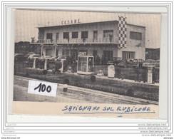 12583 ITALIE  AK/PC/CPA ESSENCE 100 C PHOTO ALBERGO CESARE SAVIGNANO SUL RUBICONE STATION POMPE A ESSENCE ZENITH TBE - Forli