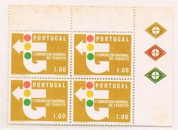 1965 - Portugal - 1st National Traffic Congress - 1$00 - Block Of 4 - Mundfil Nº 945 - Blocchi & Foglietti