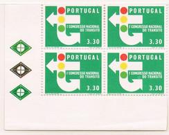1965 - Portugal - 1st National Traffic Congress - 3$30 - Block Of 4 - Mundfil Nº 946 - Blocchi & Foglietti