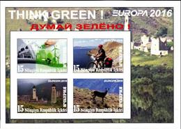 IKERIA (CHECHNIA) - 2016 - Europa, Think Green - Imperf 4v Souv Sheet - M N H - Private Issue - Non Classificati