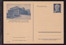 Wilhem Pieck 12 Pfg. Mit Bild Dessau Landestheater - Sin Clasificación
