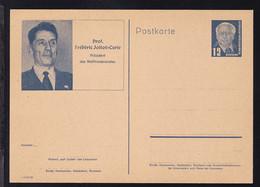 Wilhem Pieck 12 Pfg. Mit Bild Prof. Frederic Joliot-Curie - Sin Clasificación