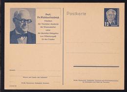 Wilhem Pieck 12 Pfg. Mit Bild Prof. Dr. Walther Friedrich - Sin Clasificación