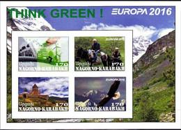 NAGORNO KARABAKH - 2016 - Europa, Think Green - Imperf 4v Souv Sheet - M N H - Private Issue - Armenia