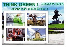 TRANSNISTRIA - 2016 - Europa, Think Green - Imperf 4v Souv Sheet - M N H - Private Issue - Moldavia