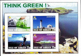 SCOTLAND - ISLE OF ARRAN - 2016 - Europa, Think Green - Imperf 4v Souv Sheet - M N H - Private Issue - Cinderella