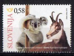 Slovenia 2019. Joint Issue With Australia. Fauna. Animals. Koala And Goat. MNH** - Slowenien