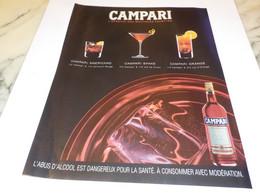 PUBLICITE MULTIPLES FACETTES CAMPARI 2007 - Alcools