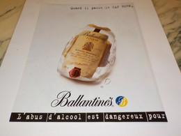 PUBLICITE IL PASSE LE CAP HORN WHISKY BALLANTINES 1997 - Alcools
