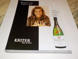 PUBLICITE POUR LES FETE KRITER 1997 - Alcools