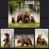 Slovenia 2019. Brown BEAR. Fauna. Animals.  MNH** - Slowenien