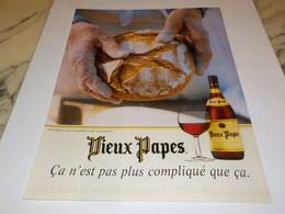 PUBLICITE VIN VIEUX PAPES 1997 - Alcools