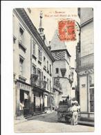 Saumur - Rue Et Vieil Hôtel De Ville - édit. Fr. Voelcker 69 + Verso - Saumur