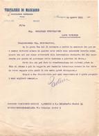 """09587 """"MACCAGNO SUPERIORE (VA) - TRAFILERIE DI MACCAGNO - LETTERA COMMERCIALE 24.08.1945"""" ORIG. - Italia"""