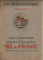 BATEAU, Plan , Coupe Longitudinale Du Paquebot De Grand Luxe ILE DE FRANCE, 5 Scans,  Frais Fr 4.45 E - Other Plans