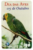 Perroquet Parrot Oiseau Bird Télécarte Brésil Phonecard Telefonkarte (D 705) - Pappagalli