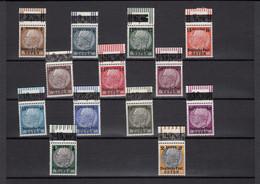 GG: MiNr. 1-13, Hindenburg, Postfrisch, ** Oberrand - Bezetting 1938-45