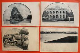 Chine China Lot 15 Old Postcards Cartes Postales Vers 1900 Dos Scanné éditeur Max Nössler état Moyen Humidité - China