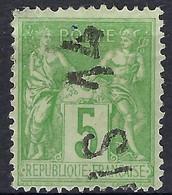 """FRANCE Classique: Le Y&T 106, Obl. Jour De L'An """"PARIS 14"""" - 1876-1898 Sage (Tipo II)"""