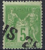 """FRANCE Classique: Le Y&T 106, Obl. Jour De L'An """"PARIS 25"""" - 1876-1898 Sage (Tipo II)"""