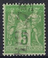 """FRANCE Classique: Le Y&T 106, Obl. Jour De L'An """"PARIS 75"""" - 1876-1898 Sage (Type II)"""