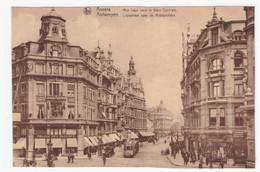 ANVERS - Rue Leys Vers La Gare Centrale (carte Animée) - Antwerpen