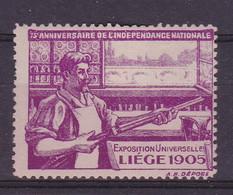 Liège   Exposition Universelle 1905 Vignette - Unclassified