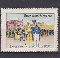 Bruxelles    Exposition Internationale 1897 Vignette - Unclassified