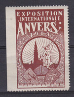 Anvers      Exposition Internationale 1909  Vignette - Unclassified